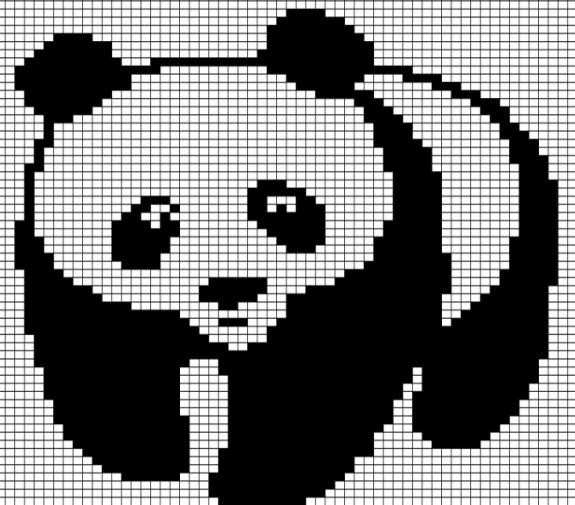 Схема для вязки панды