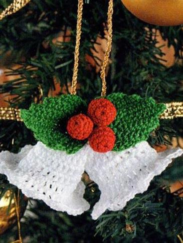 Украшение колокольчик на Новогоднюю елку