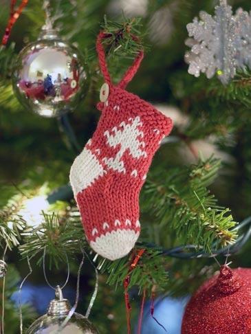Носок на Новогоднюю елку
